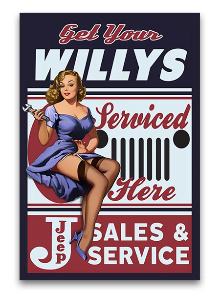 Willy Service 12″x18″