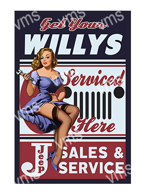 PIN010 – Willy Service – 8×12