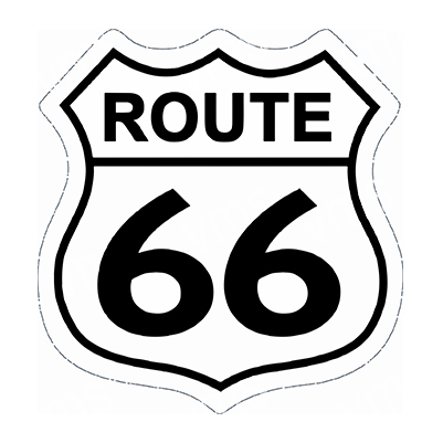 R66009 – Route 66 Shield – 16×16.5